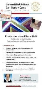 Praktisches Jahr PJ am UKD Wahltertial in der