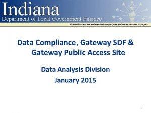 Data Compliance Gateway SDF Gateway Public Access Site