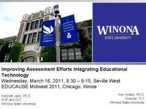 Improving Assessment Efforts Integrating Educational Technology Wednesday March