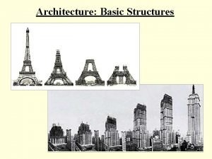 Architecture Basic Structures What basic structures do architects
