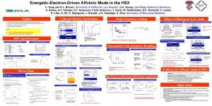 EnergeticElectronDriven Alfvnic Mode in the HSX C Deng
