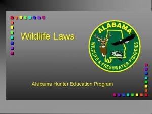 Wildlife Laws Alabama Hunter Education Program Alabama Department