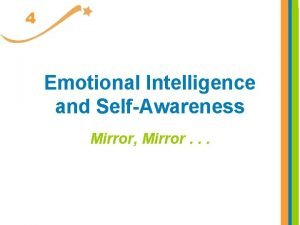 4 Emotional Intelligence and SelfAwareness Mirror Mirror What