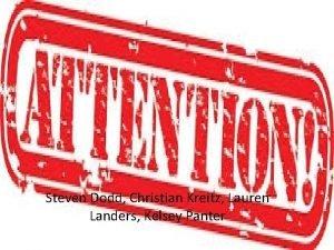 Steven Dodd Christian Kreitz Lauren Landers Kelsey Panter