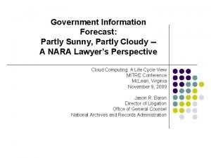 Government Information Forecast Partly Sunny Partly Cloudy A