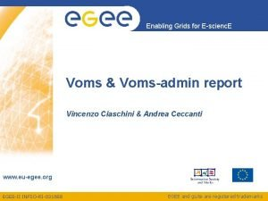 Enabling Grids for Escienc E Voms Vomsadmin report