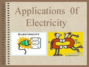 Applications 0 f Electricity Electricity and Magnetism Positive