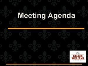 Meeting Agenda Meeting April 2010 AGENDA Mark Boyer
