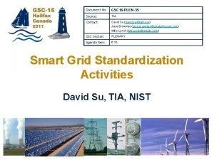 Document No GSC 16 PLEN35 Source TIA Contact