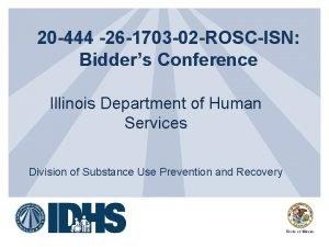 20 444 26 1703 02 ROSCISN Bidders Conference