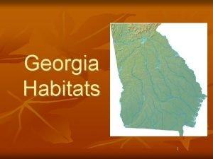 Georgia Habitats 1 Georgia Piedmont Habitat n n
