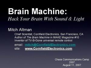 Brain Machine Hack Your Brain With Sound Light