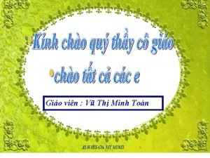 Gio vin V Th Minh Ton KIM TRA