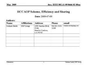 May 2009 doc IEEE 802 11 090666 02