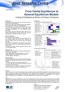 From Partial Equilibrium to General Equilibrium Models Linking