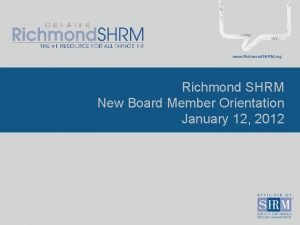 www Richmond SHRM org Richmond SHRM New Board