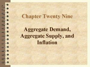 Chapter Twenty Nine Aggregate Demand Aggregate Supply and