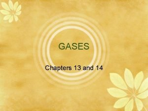 GASES Chapters 13 and 14 Nature of Gases