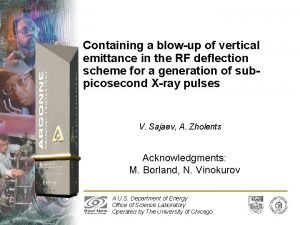 Containing a blowup of vertical emittance in the