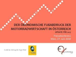 DER KONOMISCHE FUABDRUCK DER MOTORRADWIRTSCHAFT IN STERREICH UPDATE