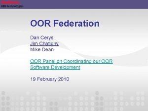 OOR Federation Dan Cerys Jim Chatigny Mike Dean