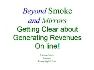 Beyond Smoke and Mirrors Getting Clear about Generating