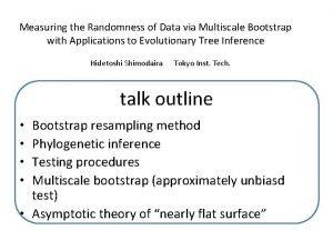 Measuring the Randomness of Data via Multiscale Bootstrap