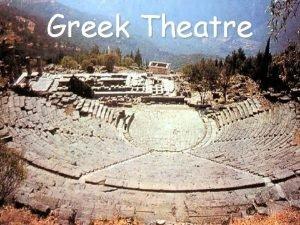 Greek Theatre Greek Festivals F Festivals honored Olympian