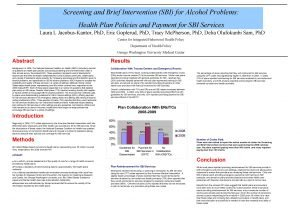 Screening and Brief Intervention SBI for Alcohol Problems
