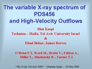 The variable Xray spectrum of PDS 456 and