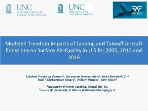 Modeled Trends in Impacts of Landing and Takeoff