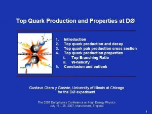 Top Quark Production and Properties at D 1