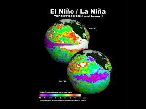 El Nino El Nino Typical surface ocean circulation