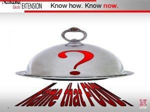 Know how Know now 1 Alice Henneman MS