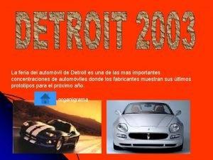 La feria del automvil de Detroit es una