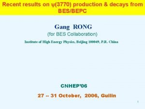Recent results on 3770 production decays from BESBEPC