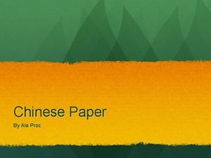 Chinese Paper By Ale Proc About Chinese Paper