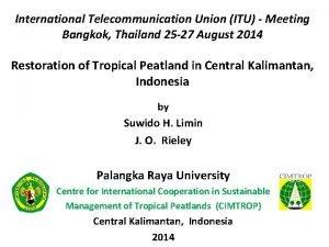 International Telecommunication Union ITU Meeting Bangkok Thailand 25
