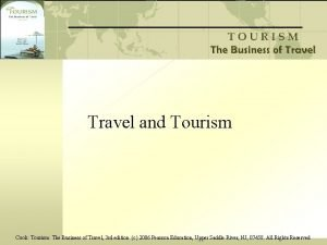 Travel and Tourism Cook Tourism The Business of