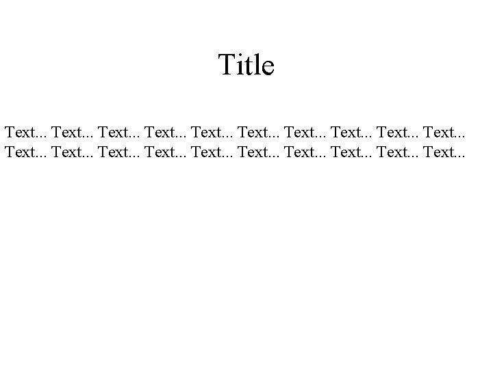 Title Text Text Text animation Fist text Fist