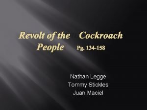 REVOLT OF THE COCKROACH PEOPLE PG 134 158