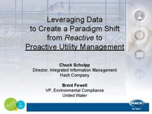 Leveraging Data to Create a Paradigm Shift from