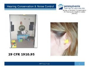 Hearing Conservation Noise Control Bureau of Workers Compensation