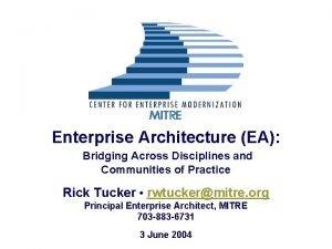 Enterprise Architecture EA Bridging Across Disciplines and Communities
