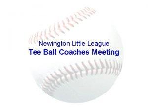 Newington Little League Tee Ball Coaches Meeting Table