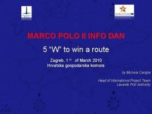 MARCO POLO II INFO DAN 5 W to