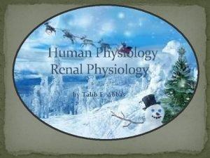 Human Physiology Renal Physiology by Talib F Abbas