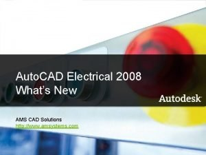 Auto CAD 2008 Electrical 2008 Auto CAD Electrical