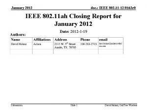 January 2012 doc IEEE 802 11 120163 r