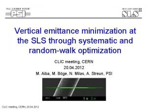 Vertical emittance minimization at the SLS through systematic